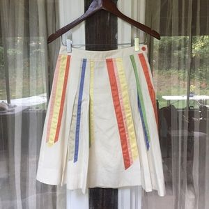 Anthropologie Skirts - Anthropologie Lithe Rainbow Ribbon Shirt