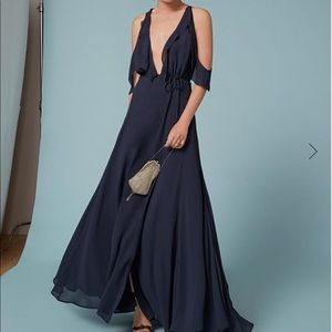 Navy Blue Reformation Gown