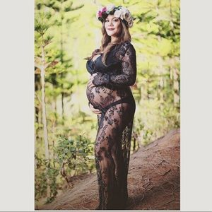 41b6e0146c839 Dresses | Black Lace Maternity Dress | Poshmark