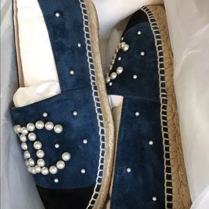 Shoes - Chanel Blue Espadrilles TEXT ME NOW (206) 485-4334