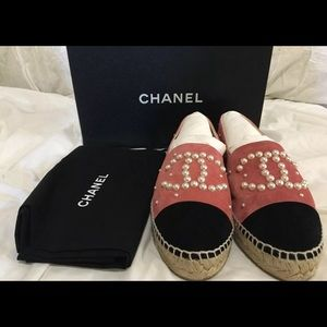 Shoes - Chanel Pink Espadrilles TEXT ME NOW (206) 485-4334