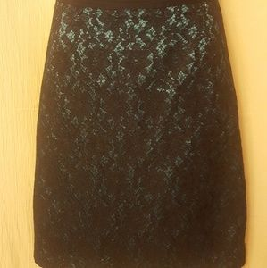 Talbots Skirt with lace overlay