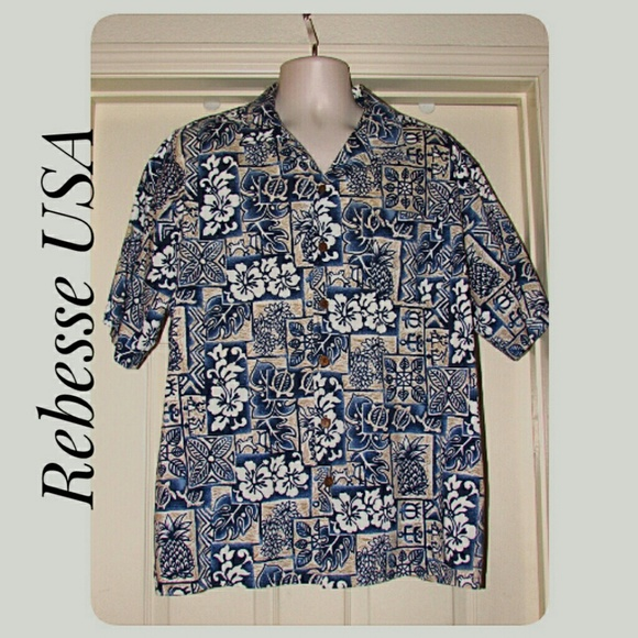 Reebesse USA Other - Men's Reebesse USA Hawaiian Shirt Size XL