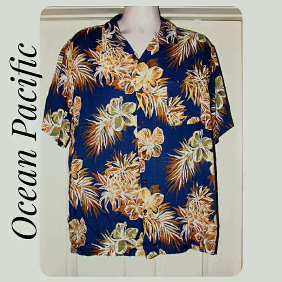 Ocean Pacific Other - Men's Ocean Pacific Hawaiian Shirt Size XL