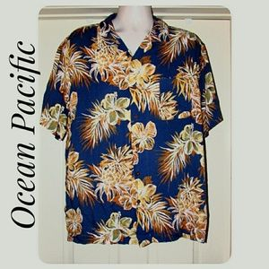 Men's Ocean Pacific Hawaiian Shirt Size XL