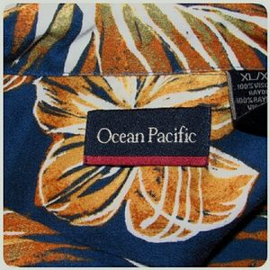 Ocean Pacific Shirts - Men's Ocean Pacific Hawaiian Shirt Size XL