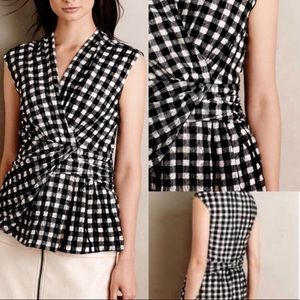 NWT anthropologie deletta Delphine gingham check m