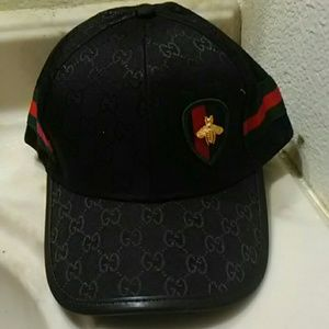 Gucci Accessories - Black Gucci styled Hat bee 96509affb9c