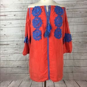 Anthropologie silk dress Line + Dot S Boho