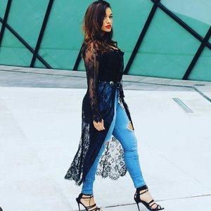 Lace kimono or coverup