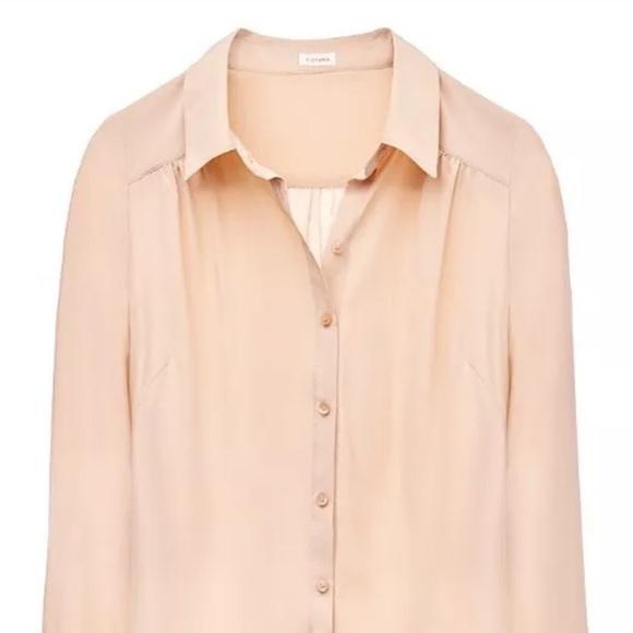 bed7c69ec9baf Cuyana Tops -  Cuyana gathered silk blouse in Nude