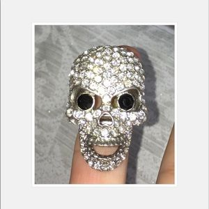 Accessories - Scull ring with Rhine stones