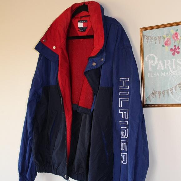f03cd922 Vintage 90s Tommy Hilfiger Windbreaker Jacket Larg.  M_599c40de9c6fcfd4ff00ab34