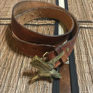 Vintage brass eagle/ genuine leather belt