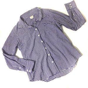 J. Crew factory Gingham The Perfect Shirt Medium