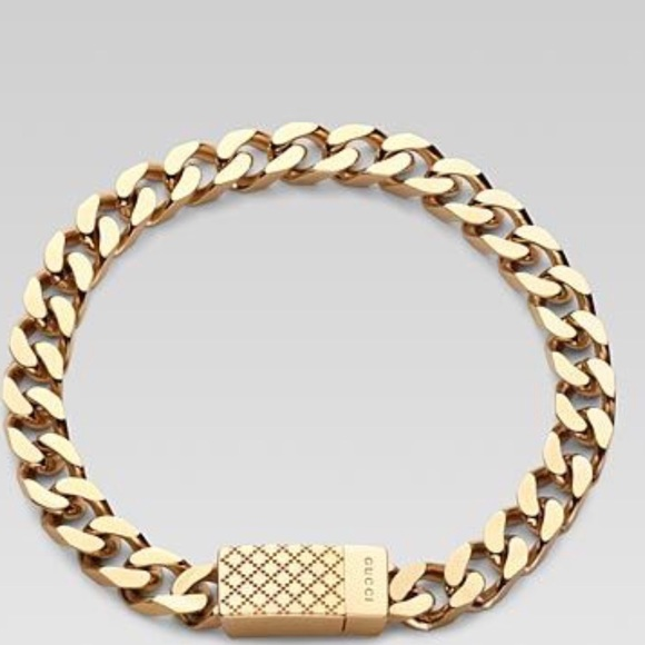 4cccd2552 Gucci Accessories | One Gold Bracelet 2 Gold Bracelets For Men ...