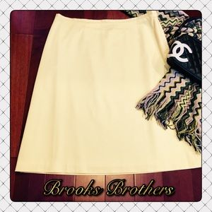 BROOKS BROTHERS Skirt 8 Cotton Butter Yellow