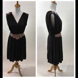 French Connection Boho beaded sleeveless dress 6