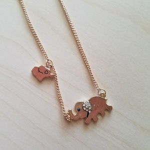 Jewelry - Elephant Necklace Gold Baby Elephant