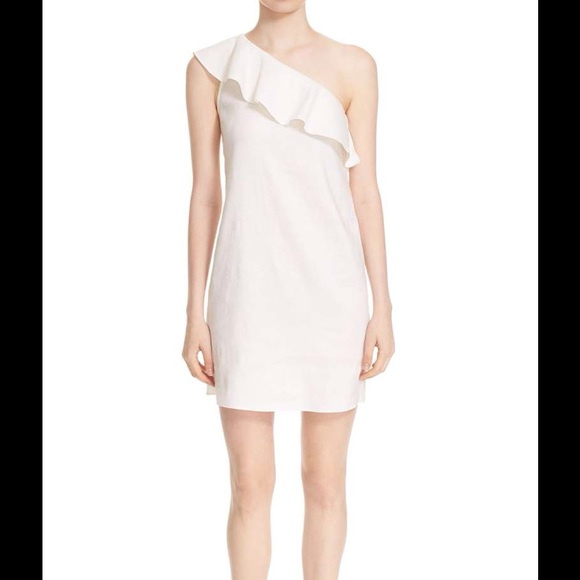 ce6e559b79f8 Theory NWT Alexandra oneshoulder linen blend dress.  M 599c69df13302aefd6014d80