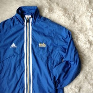 ADIDAS UCLA Bruins blue+white full zip jacket