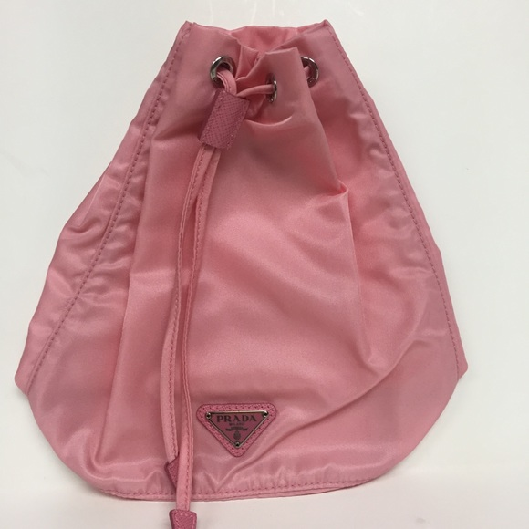 0f274afd54c4 Prada Bags | Pink Nylon Necessaire Vela Drawstring Bag | Poshmark