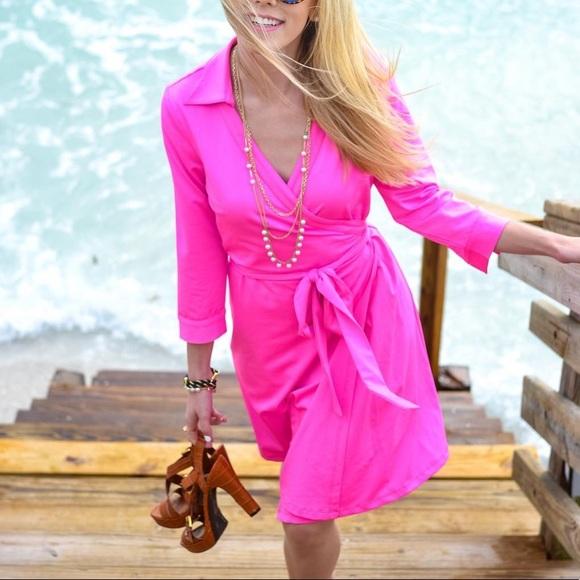 JB by Julie Brown Dresses & Skirts - JB by Julie Brown NYC Pink Quarter Sleeve Wrap