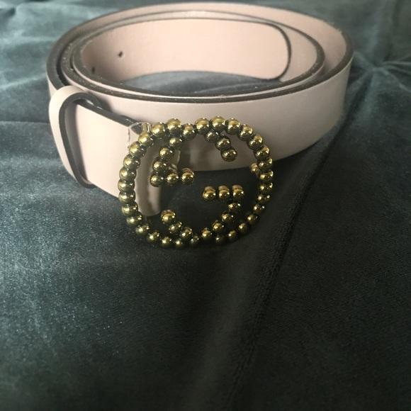 7775bcfc719 Gucci Accessories - Gucci calfskin studded interlocking g belt