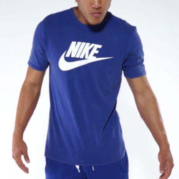 Nike SOLSTICE FUTURA Men's Royal Blue Cotton Shirt