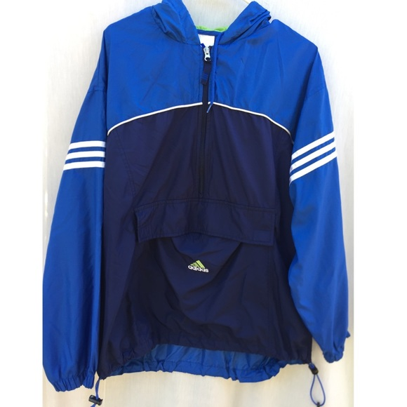 adidas pullover windbreaker jacket
