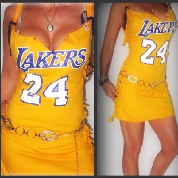 new product 9a022 d42cb CUSTOM NBA T SHIRT DRESS LA LAKERS KOBE BRYANT #24