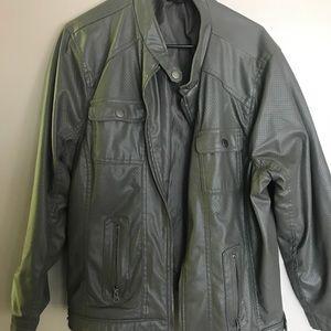 Jackets & Blazers - Plus size leather fashion jacket