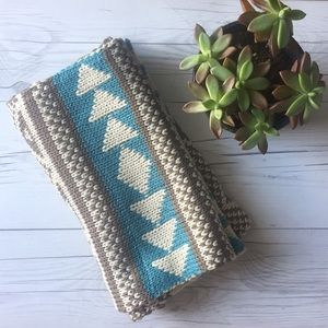 Accessories - Blue Fair Isle Infinity Scarf