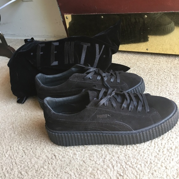 the best attitude 72717 c4f49 PUMA x FENTY ALL BLACK SUEDE CREEPERS by RIHANNA