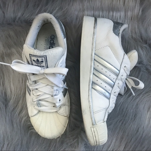 420c9d0ddf0 adidas Shoes - Adidas Superstars Custom Silver Vintage