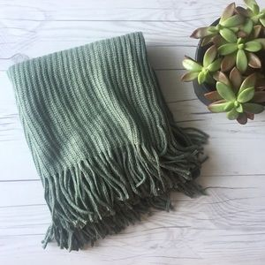 Accessories - Green Fringe Infinity Scarf