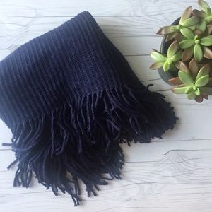 Accessories - Navy Fringe Infinity Scarf