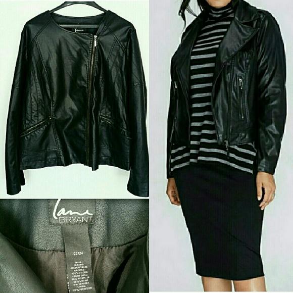 dddd599778674 Lane Bryant Jackets   Blazers - NWOT Lane Bryant Faux Leather Moto Jacket