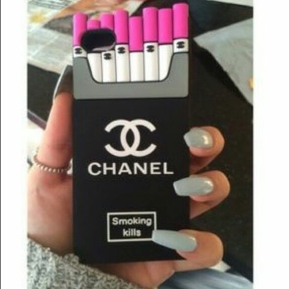 new products 3ab46 6446a Chanel smoking kills iPhone 7 case Pink