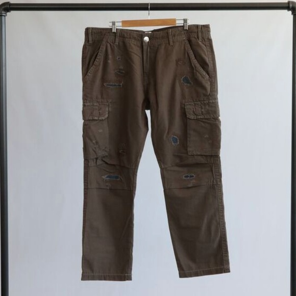 b1e1914a16 True Religion Pants | Brown Distressed Cargo | Poshmark