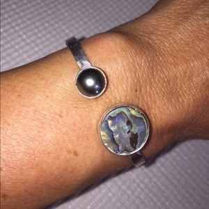 Jewelry - Authentic Tahitian Pearl Sterling Silver Cuff