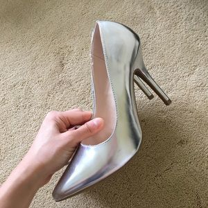 Shoes - Fabulous silver heels, brand new without tags.