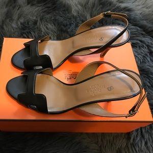 8739995ac63 Hermes Night 70 sandal in black, size 36.5 NWT