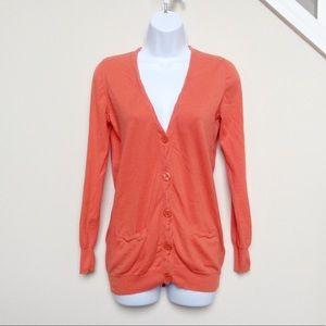 CLOSET CLOSING J.Crew Orange Cardigan Sweater