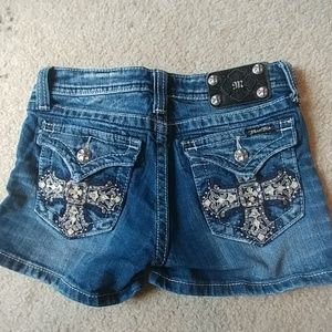 Girls Miss Me Jean Shorts size 16