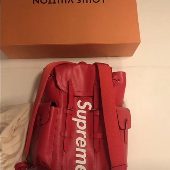 72109996f4d Resell Lv used x Supreme Chris backpack