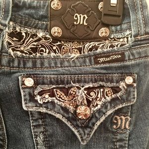 Miss Me Enchanted Butterfly Bootcut Jeans