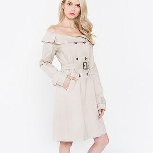 🆕Sugarlips Off the Shoulder Trench Coat