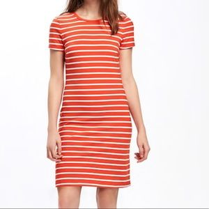 NWT old navy coral body-con dress