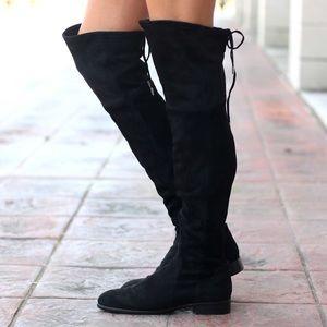 Dolce Vita Black Suede OTK Boots